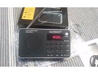 Sunstech Portable radio Digital, USB charger or batteries, MP3, WMA...like new!