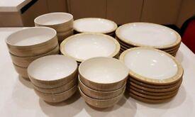 Denby Caramel Stripes Dinner Set 36 pieces