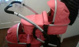 Twin prom and push chair