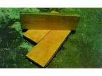 Teak parquet flooring