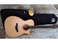 BEAUTIFUL QUALITY CRAFTER ELECTRO ACOUSTIC GUITAR HT100-CE OP WITH NEW KINSMAN QUALITY PADDED BAG