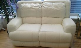 A Pair of 2 Seater Leather Recliner Sofas
