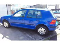 VW Golf Blue 1.6 5dr