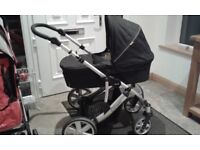 Britax travel system -car seat, carry cot, pram