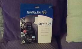 Sunshine kids Stow 'n Go back seat organizer Brand new in box.