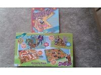 Scooby doo games and puzzles and activity box
