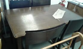 dining table plus 4 chairs £70.00