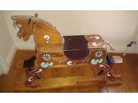 Vintage, Childs Wooden Rocking Horse