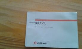 Vauxhall Brava owners manual