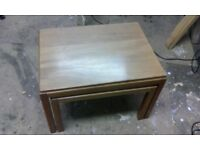 nest of 2 tables, Gordon Russell retro coffee tables, mid-century, 1940's,mahogany occasional tables