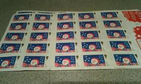 1st CLASS XMAS STAMPS - 221 in total.