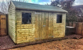 Wooden apex shed 12' x 8'