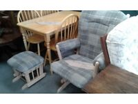 lovely rocking chair with foot stool great condition £75.00