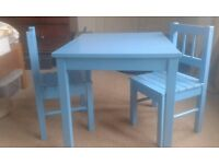 Ikea children's table & 2 chairs