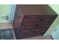 Oak shelf, washing machine, chest of drawers