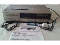 SANYO VTC 5000 BETAMAX VIDEO CASSETTE RECORDER. (Collection only)