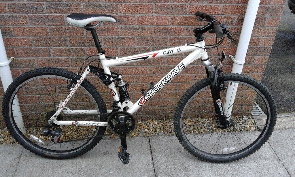 Shockwave Dirt 8 Dual Suspension Aluminium Frame Mountain Bike ...