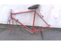 BIKE FRAME AND SEAT AVAILABLE FOR SALE FOR SPARES OR REPAIR
