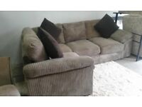 EX DISPLAY DFS JUMBO CORNER SOFA SET DELIVERY FREEE
