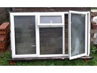 WINDOW , ALUMINIUN TYPE , HARDWOOD FRAME , 1800MM (L) X 1065MM (H) ,USED CONDITION, SUIT SHED ETC.