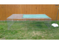 2 x large rabbit/guinea pig cage 140cm with accessories, Large 215cm wire run, 140cm tunnel