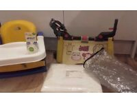 Buggy board, booster chair and baby items