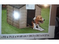 brand new plastic dog kennel still in box never been used