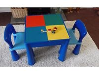 Next Childrens Lego / Play Table & Two Chairs