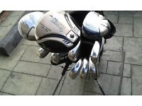 Mens Right handed New Golf Package Set. Golfsmith/Snake Eyes,Woods,Irons,Putter,Stand Bag,Umbrella.