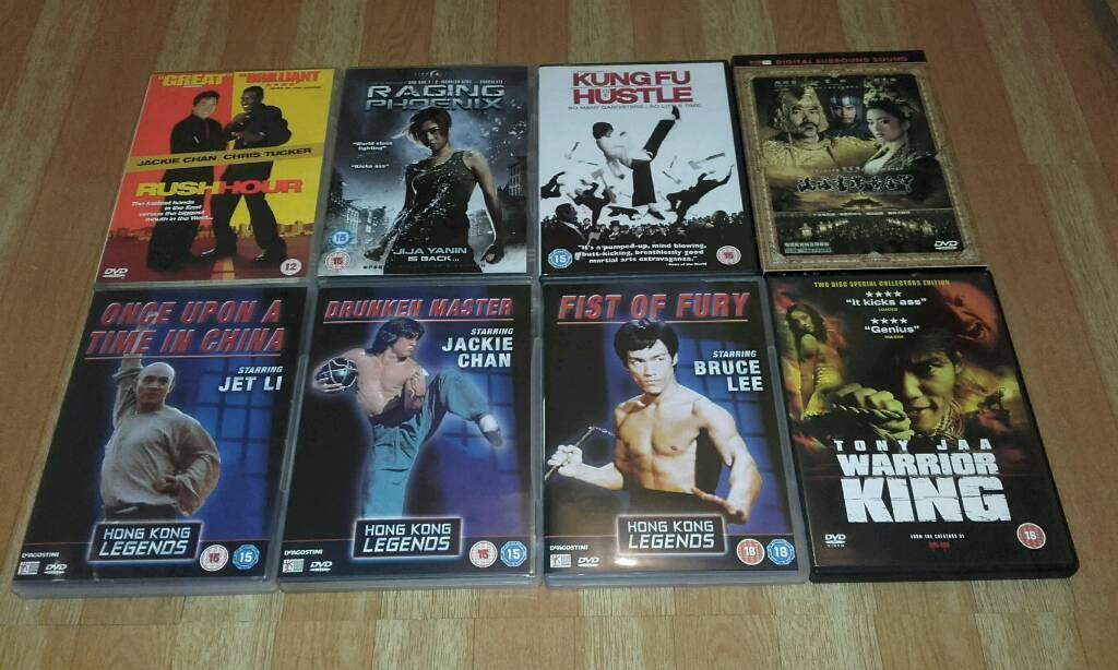 8 KUNG FU DVD'S