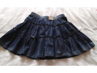 Girl's Benetton blue denim look skirt - STILL WITH TAGS ON (age 11-12)
