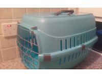 Blue cat carrier only been used once