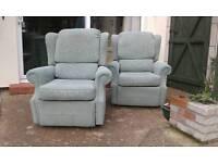 Pair recliner arm chairs