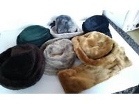 Vintage hats and stole