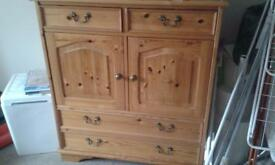 Victorian style solid pine cabinet
