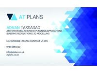 Architectural Services | Planning Applications | Building Regulations | 3D Modelling - AT Plans