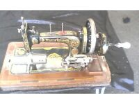 FRISTER AND ROSSMANN VINTAGE MANUAL SEWING MACHINE WITH CASE COVER AVAILABLE FOR SALE