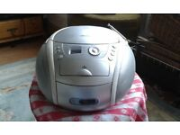 Bush portable CD Cassette Radio player in good condition