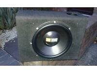12 inch jbl sub in box with 1000watt fli amp