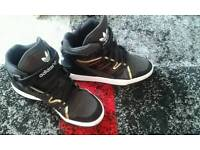 Ladies size 7 addidas high tops