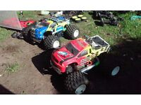 Nitro remote control cars x 2 plus enough spares to build another