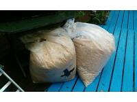 Two bags of sawdust