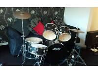 Black Leedy Drum Kit