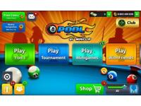8ball pool coins 100/200/500 Million or 1Billion