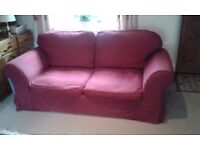 Sofa bed - dark red