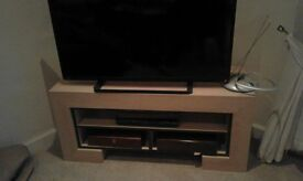 TV UNIT AND SIDE UNITS OK £50