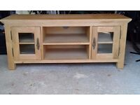 Large TV Stand, made from Oak and Oak veneer.