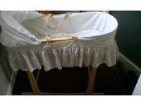 Moses basket and rocking stand clair de lune *excellent condition* £15