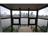 Rotherhithe SE16. **AVAIL NOW** Large, Light & Modern 2 Bed Unfurnished Flat with Direct River Views