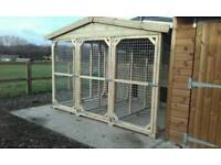 Dog kennel and run 10x10ft tipple kennel